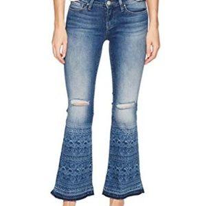 Mavi Jeans 27P Peace Petite Flare in Indigo Tribe